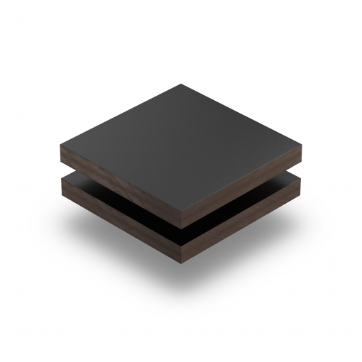 Schwarz RAL 9005 Struktur HPL Platte