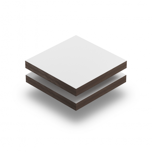 Weiss RAL 9016 Struktur HPL Platte