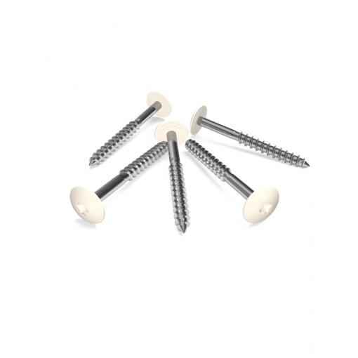 Cremeweiß-RAL-9001-HPL-Schrauben